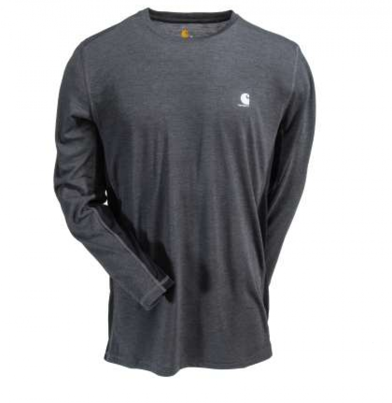 Carhartt Force Shirts: Men's Extreme  Black -Grey Long Sleeve Shirt