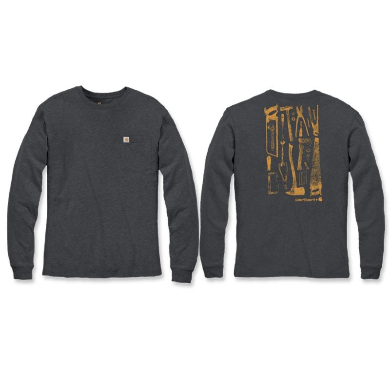 Carhartt Long Sleeve Maddock Graphic Tool T-Shirt