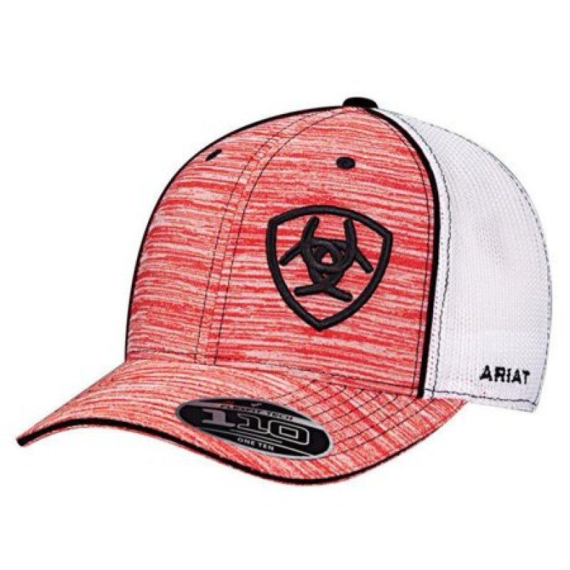 Ariat  Heather Offset Logo Hat, Red