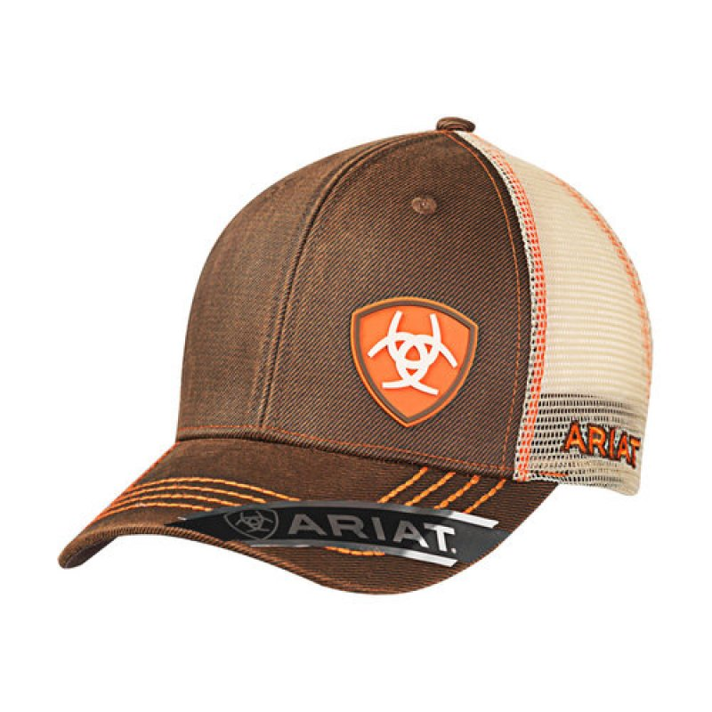 Ariat Mesh Cap Oilskin Brown/Orange - 1506102