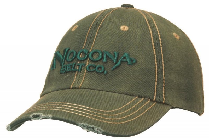 Baseball Cap Washed Distressed Green 1511928