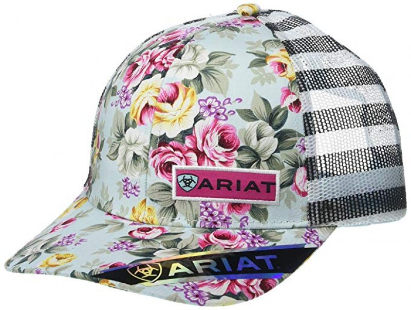 Ariat Women's Offset Cactus Mesh Snap Back Cap