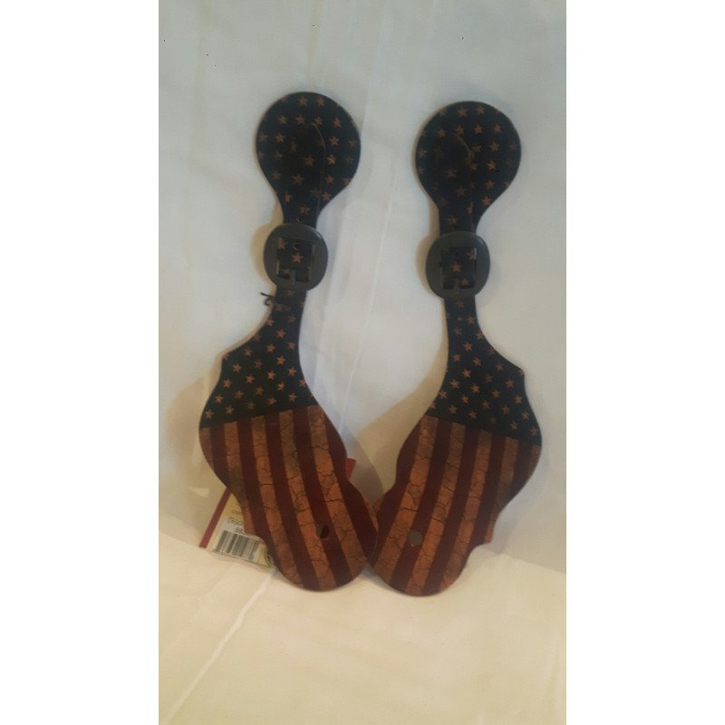 Spur straps Stars & Stripes