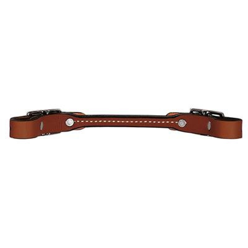 Brown Bridle Leather Rounded Curb Strap, Brown