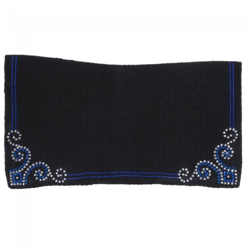 Contour Wool Showblanket with Crystal Arrow Design Blue