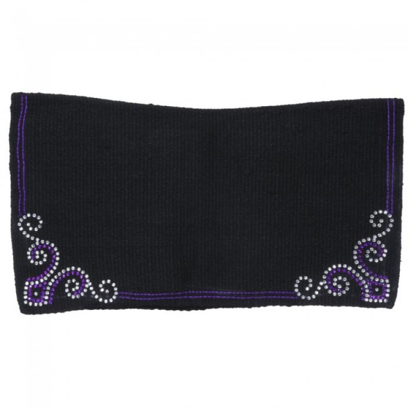 Contour Wool Showblanket with Crystal Arrow Design Purple