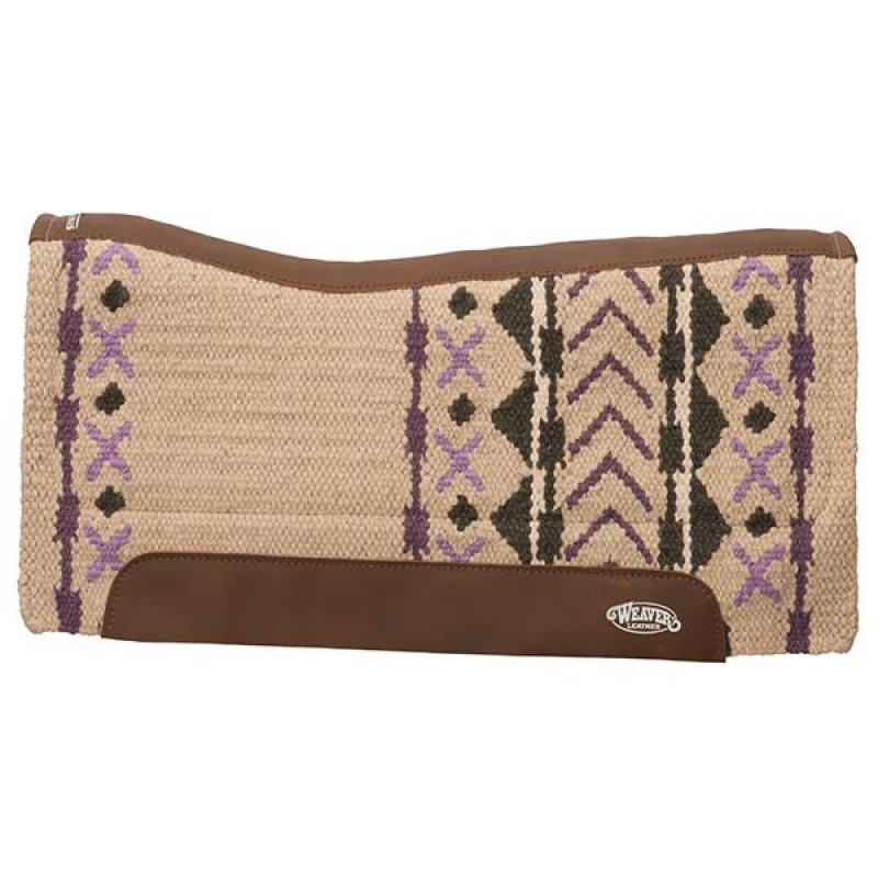 Synergy Contoured Performance Saddle Pad - Sand/Plum