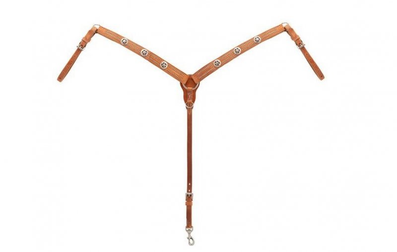Texas Star Tapered Breast Collar, Hermann Oak® Harness Leather