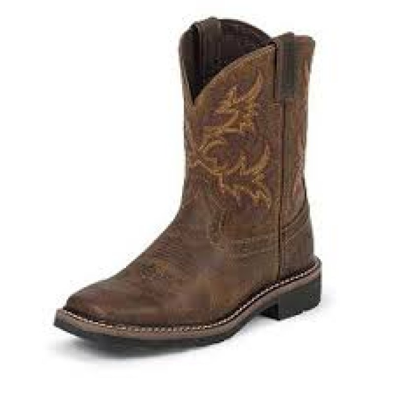 Cattleman Tan Kid boot