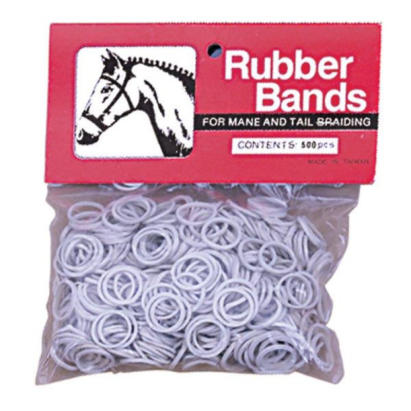 Rubber Bands White