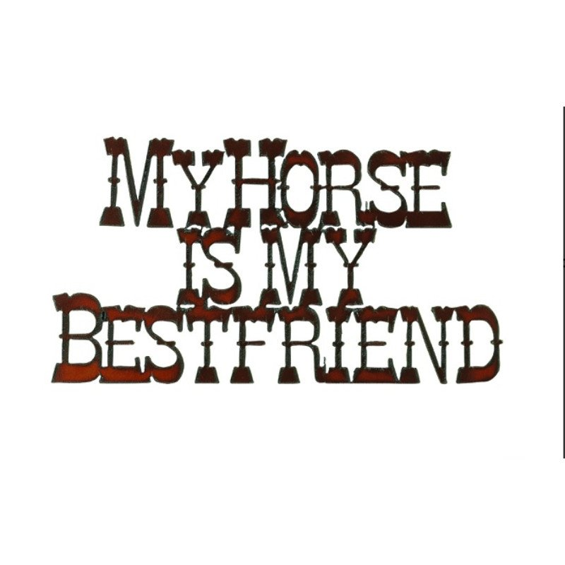 My horse is my best friend