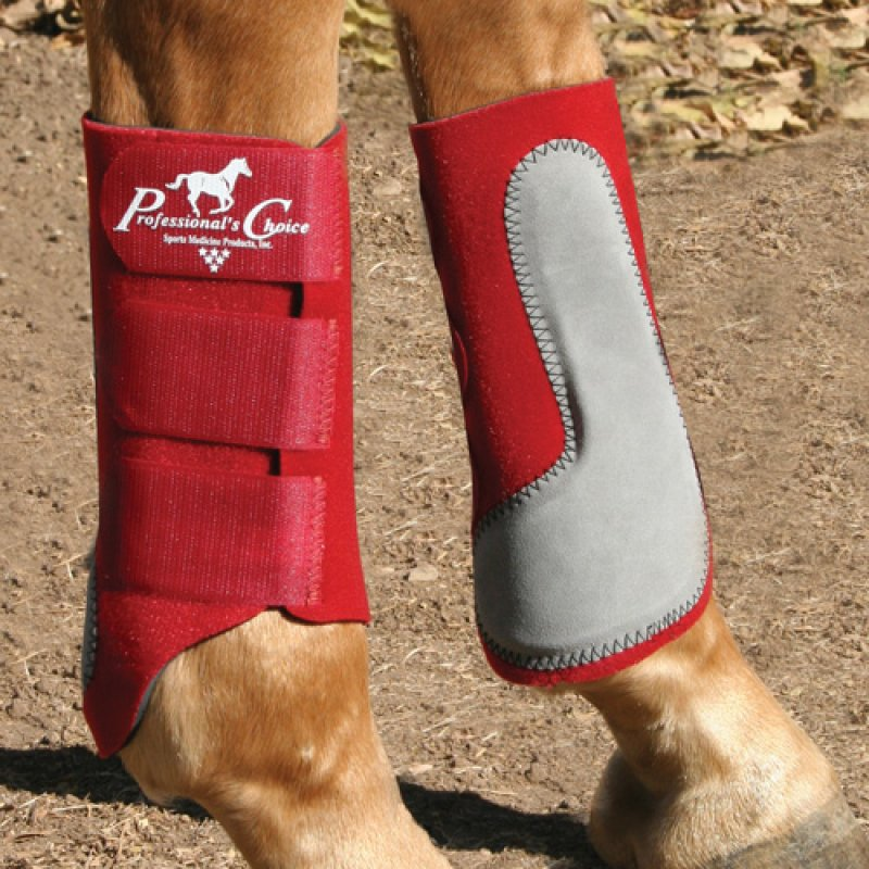 Easy-Fit Splint Boots Crimson Red