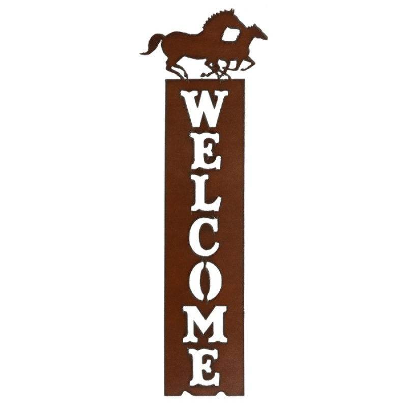 Welcome sign Double Horses