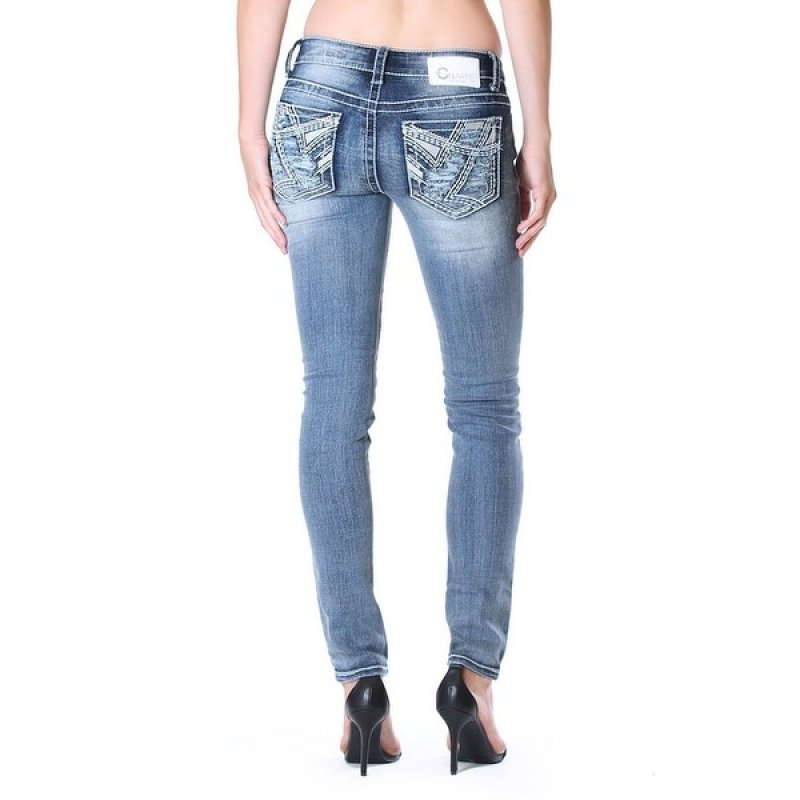 Charme -Skinny Fading Med Wash