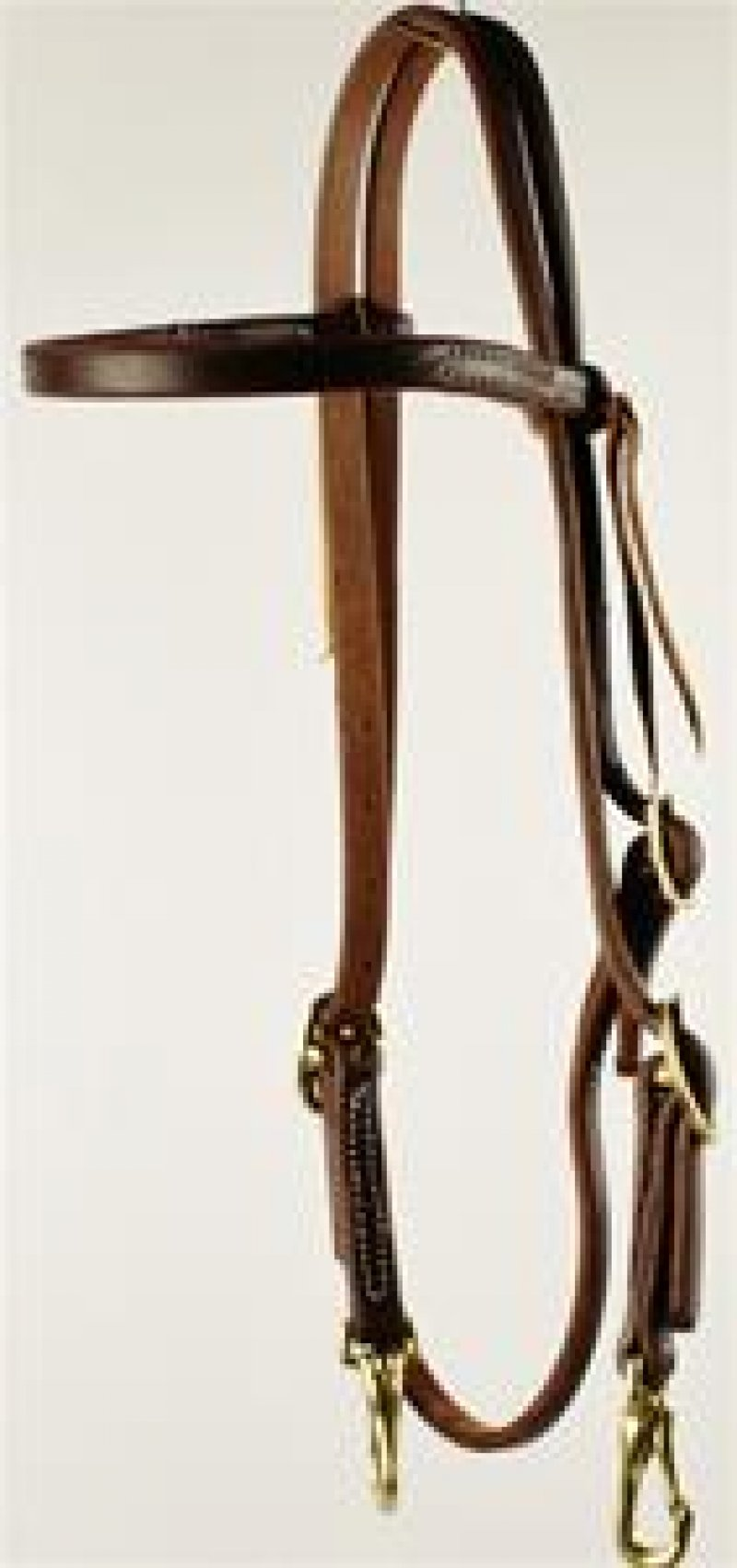 Double Buckle Browband Headstall with Snaps