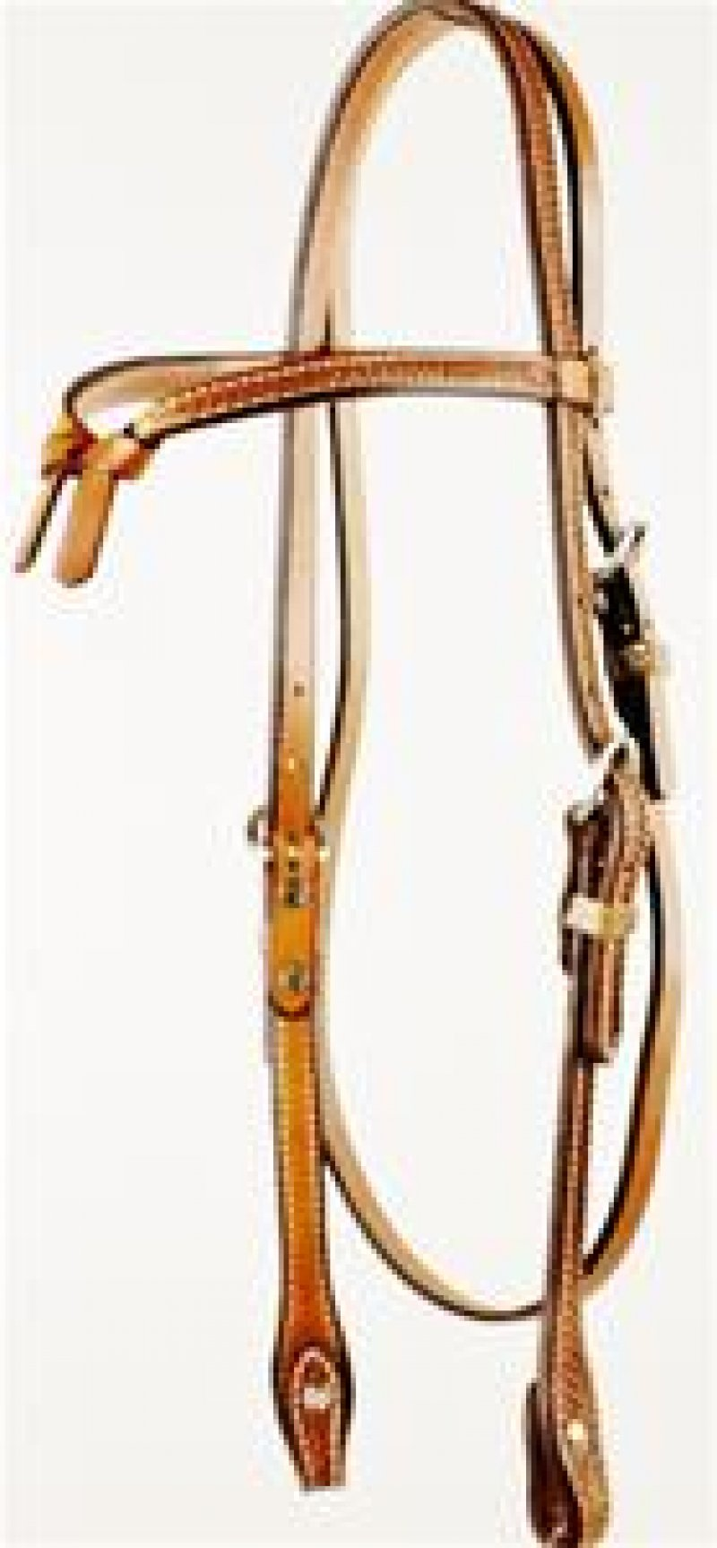 Basket Weave Tooled Futurity Knot Browband Headstall with Screws