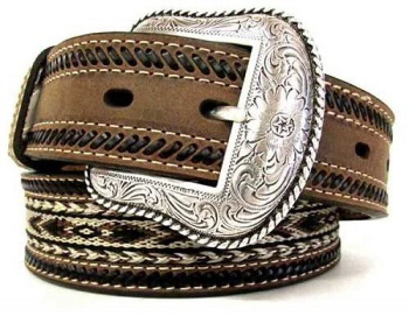 Double stitched horsehair belt