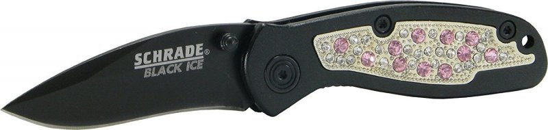 Schrade cowgirl up folding knife Pink
