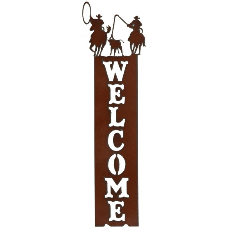 Welcome sign Vertical - Team Roper