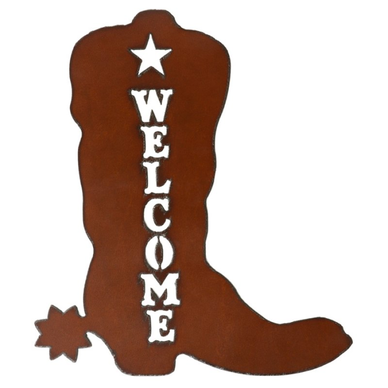 Welcome sign Boot