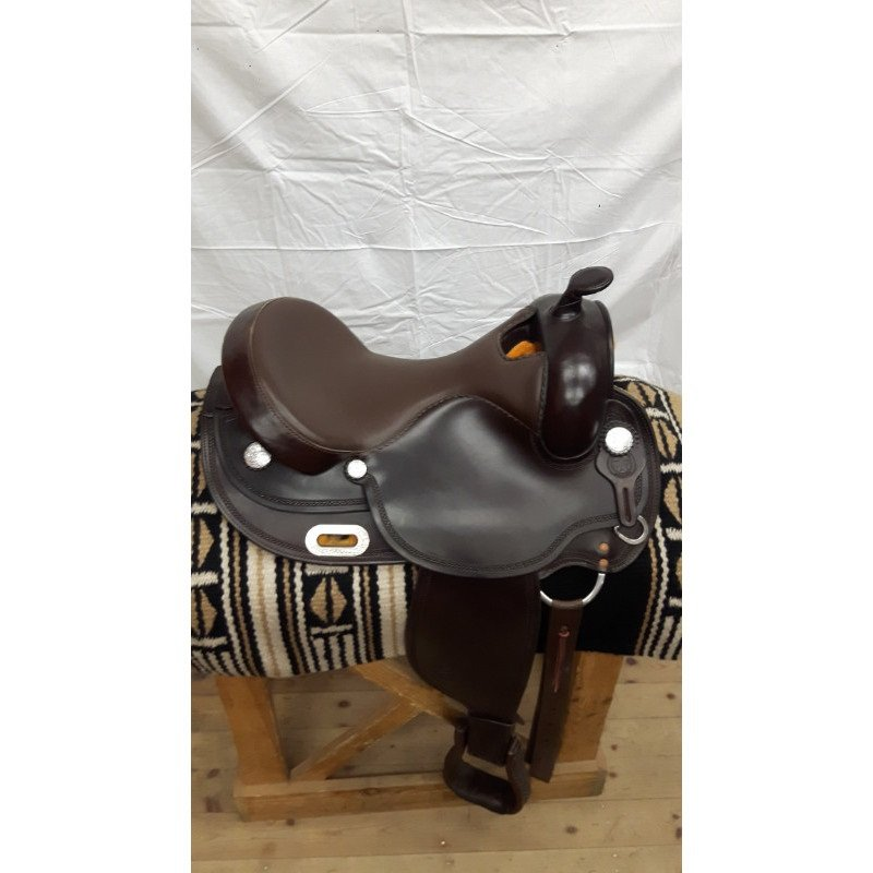 White Star Dark brown, Smooth brown seat